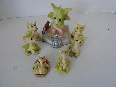 Whimsical World Of Pocket Dragons - Lot of 7