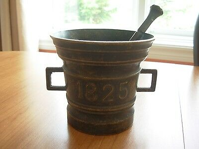 Vintage or Antique ? Mortar and Pestle Marked 1825
