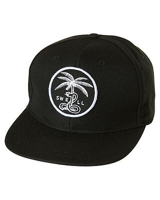 New Swell Men's Pacific Paradise Snapback Cap Cotton Black