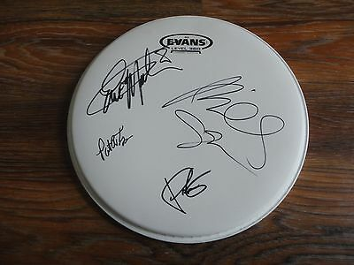 "Mr.big Signed Evans 10"" Drumhead 4X Band Coa Mr Big Eric Martin Sheehan Rare!!"