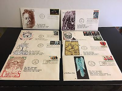 First Day Issues ~ Lot of Eight ~ Variety From the 1960s