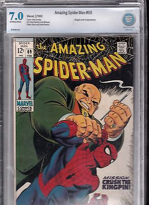 The Amazing Spider-Man #69 King Pin appearance and cover (Feb 1969, Marvel)