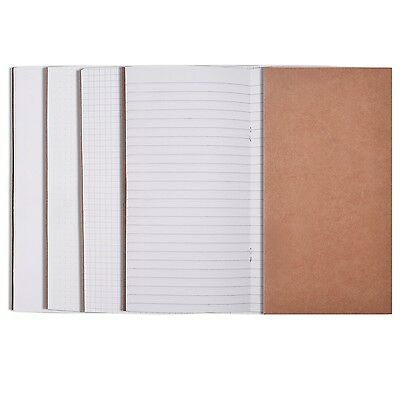eBoot 5 Pieces Traveler's Notebook Inserts Travel Journal Refill Set 64 Pages...
