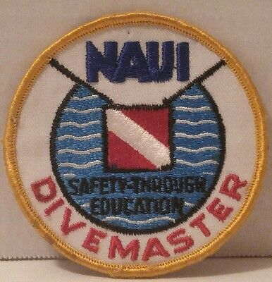 NAUI Divemaster PATCH Safety-Through Eduacation SCUBA DIVING Iron On STITCH ON