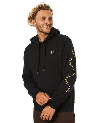 New Swell Men's Forever Hood Cotton Pu Black