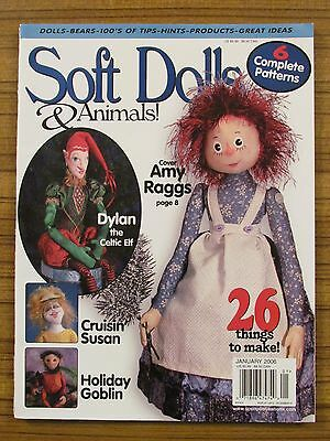 Soft Dolls & Animals - Dec/jan 2006 Celtic Elf Goblin Pin Dolls 'as New'