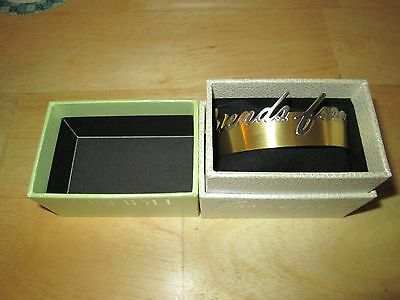 "New Rustic Cuff ""Friends Forever"" Regifters Gold with Silver Bracelet with Box~"