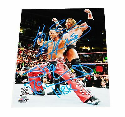 Wwe Dx Shawn Michaels Hbk Triple H D-Generation X Signed 8X10 Autographed Photo