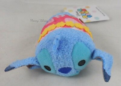New Disney Store Hawaii Exclusive Aloha Lilo & Stitch Tsum Tsum Mini Plush 3.5