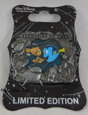 WDI Attractions D23 3D Stained Glass Finding Nemo Submarine Voyage Pin LE 300