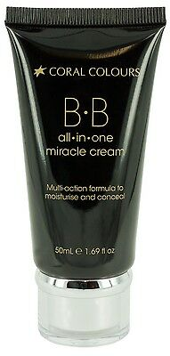 Coral Colours - BB All-in-One Miracle Cream - 50ml - Choose Colour - New!