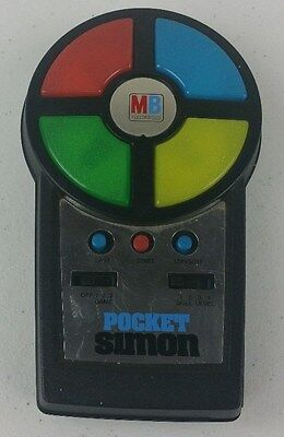 Vintage 1980 Pocket Simon MB Milton Bradley Electronic Memory Game Working A9