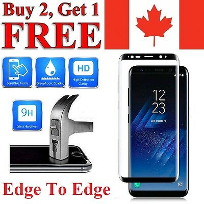 3D Curved Cover Tempered Glass Screen Protector for Samsung Galaxy S8 & S8 PLUS
