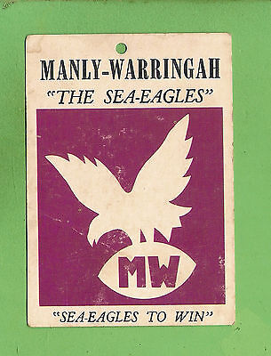 1968  Scanlens Manly  Warringah   Rugby League Team  Crest Card