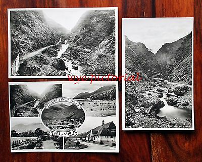 Alva And Alva Glen -  3 Real Photo Postcards Clackmanmanshire