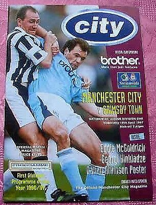 Manchester City  V  Grimsby Town  1996-97