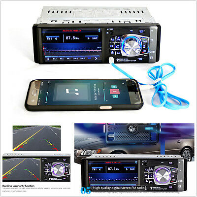 "4.1"" Bluetooth Car In-Dash Stereo FM Radio Audio Receiver MP5 MP3 Player USB AUX"