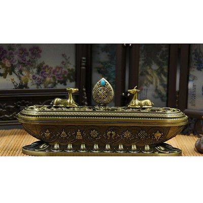 Incense Stick Holder Burning Joss Insence Insense Burner Ash Catchers Bronze