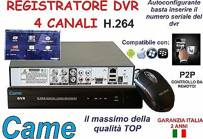 Dvr Recorder 4 Canali 4Ch 960H Audio Video Lan Vga Usb H.264