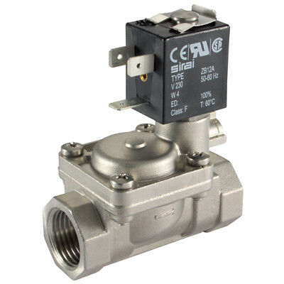 """L282V09-38-24, 3/8"""" 2/2 NC ST. ST SOL VALVE 24V DC, Actuated Ball/Gen Purpose So"""