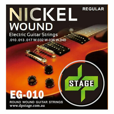 Electric Guitar Strings 10-46 Nickel Wound Regular 10-46 1 x Set  DP Stage EG010