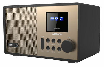 "MEDION E85059 MD 87559 WLAN Internet Radio 2,4"" Display DLNA USB AUX Champagner"