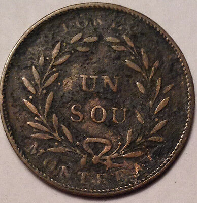 1835-38 Lower Canada Montreal Sou Token Br.709