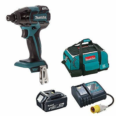 MAKITA 18V DTD129 IMPACT DRIVER BL1840 BATTERY DC18RC 110v CHARGER 4 PIECE BAG