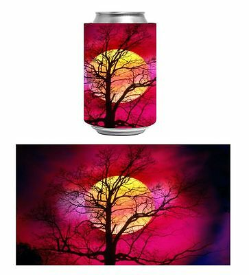 Pink Sunset Moon  Stubby Or Can Holder/cooler .