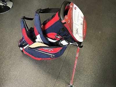 Callaway Golf Hyper-Lite 3 Stand Bag.      (Red / White / Navy) - NEW