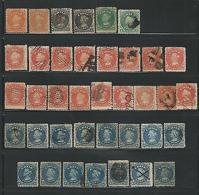 Chile: Set colon 1867, mostly used, small lot. CH19