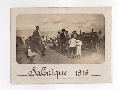 GREECE TURKEY SALONIQUE SALONICA OTTOMAN CAR ORIGINAL PHOTO 1916 SIZE: 12x9cm