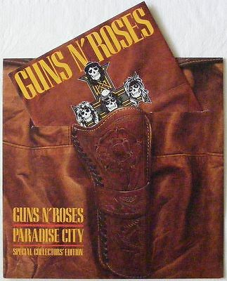 "GUNS N' ROSES uk 1989 LIMITED HOLSTER PACK 7"" Single PARADISE CITY  GEF50X"