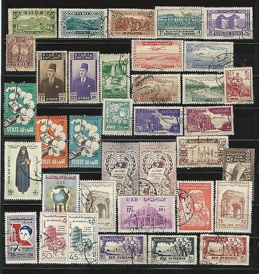 Syria: small lot of of 50 different stamps used...SY02