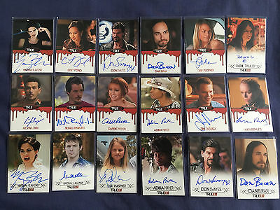 18 x True Blood Premiere Edition Autograph Trading Cards