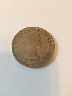1963 - Florin / Two Shillings Coin - Great Britain - Queen Elizabeth II UK Coin