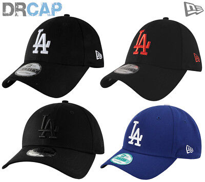 NEW ERA 9FORTY CURVED PEAK LA DODGERS ADJUSTABLE BASEBALL CAPS 55-61cm