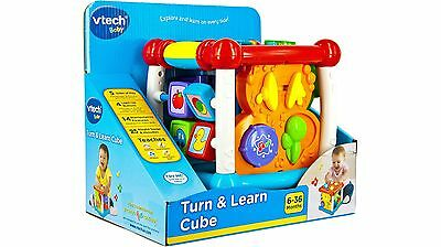 Vtech Turn & Learn Cube - Learn About Animals & Music in a Variety of Ways