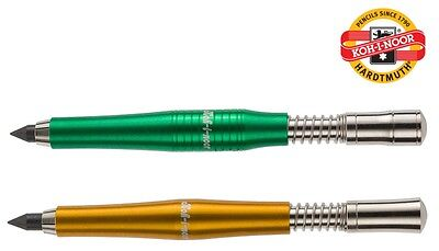 CLUTCH LEADHOLDER Mechanical Pencil 5.6mm KOH-I-NOOR All Metal Yellow Green New