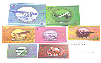 Lithuania commemorative notes. Set of Flays 2009.