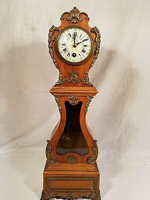 Rocco Brass mount Walnut  Miniature 8 Day LONGCASE CLOCK