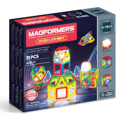 NEW Magformers - Neon LED Set Kids Childrens Toys Play