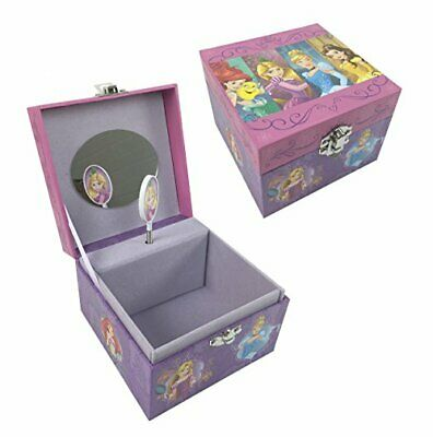Girls Childrens Disney Princess Frog Musical Jewellery Trinket Keepsake Box