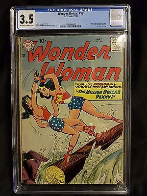 Wonder Woman #98 CGC 3.5 Key Issue 1st Silver Age Wonder Woman