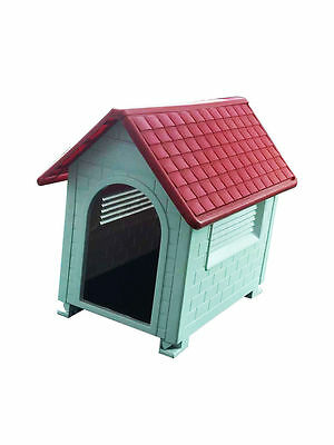 Waterproof Outdoor Plastic Pet Puppy Dog House Shelter Kennel 82x56x71cm Ideal