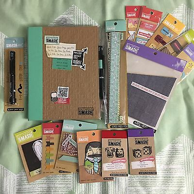 K&Company SMASH Book Baby Style & 14 Smash Accessories Gift Set Junk Journal