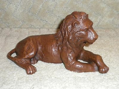 Red Mill Hand Crafted Lion Figurine Statue Sculpture Beautiful!!