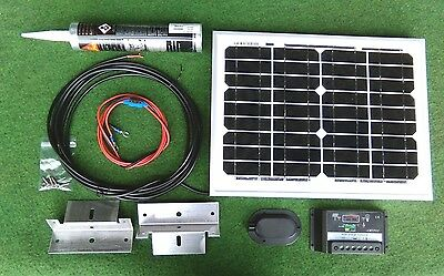 10w 10 watt solar panel and full roof fitting kit suit camper van motorhome shed