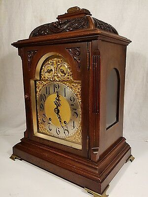 Fine Antique  W&H Carved  Bracket clock ting tang chime
