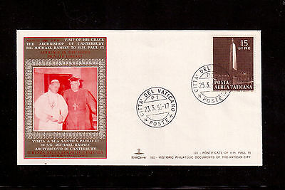 Vatican 1966 Souvenir Cover, Visit Of His Grace The Archbishop Of Canterbury !!